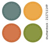 set of 4 blank colorful badges  ...