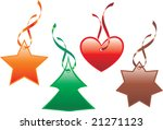 colorful christmas icons with... | Shutterstock .eps vector #21271123