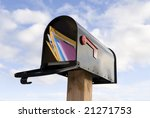 A Mailbox Full Of Mail Against...