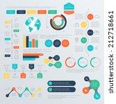 set of timeline infographic... | Shutterstock .eps vector #212718661