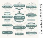 vector vintage design elements. ... | Shutterstock .eps vector #212721679