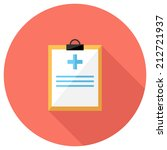 medical record icon. flat...   Shutterstock .eps vector #212721937