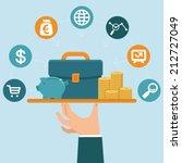 vector banking service concept... | Shutterstock .eps vector #212727049