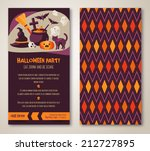 halloween two sides poster or... | Shutterstock .eps vector #212727895