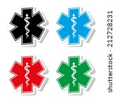 medical symbol of the emergency ... | Shutterstock .eps vector #212728231