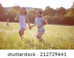 group of happy children playing ... | Shutterstock . vector #212729641