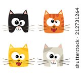 cute cartoon cats in vector.... | Shutterstock .eps vector #212731264