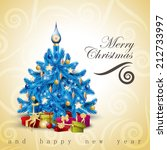 christmas tree background  ... | Shutterstock .eps vector #212733997