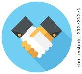 handshake icon. flat design... | Shutterstock .eps vector #212735275