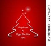 christmas greeting card ... | Shutterstock .eps vector #212741044