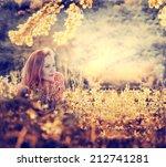 beauty fresh romantic girl... | Shutterstock . vector #212741281