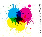 cmyk colored vector isolated... | Shutterstock .eps vector #212746021