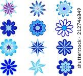 blue flowers vector | Shutterstock .eps vector #212746849