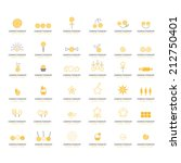 sweets icons set   isolated on... | Shutterstock .eps vector #212750401