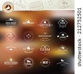 set of vintage style elements... | Shutterstock .eps vector #212752501