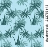 coconut trees and blue... | Shutterstock .eps vector #212755645