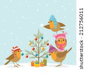 Funny Robins Decorating A...