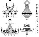 chandelier lamp vector