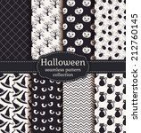 set of halloween backgrounds.... | Shutterstock .eps vector #212760145