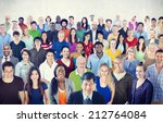 Large Group Of Multiethnic...