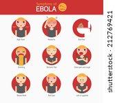 infographics symptoms of ebola... | Shutterstock .eps vector #212769421