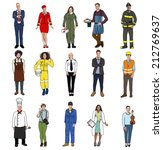 group of diverse multiethnic... | Shutterstock . vector #212769637