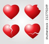 set of heart vector illustration | Shutterstock .eps vector #212770249