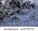 this is frosty pattern on glass ... | Shutterstock . vector #212770771