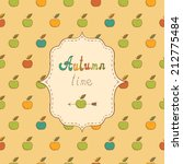 autumn background with apples | Shutterstock .eps vector #212775484