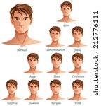 expressions set isolated on... | Shutterstock . vector #212776111