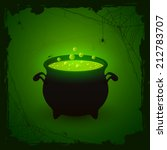 halloween witches cauldron with ... | Shutterstock .eps vector #212783707