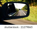 landscape in the mirror of a car | Shutterstock . vector #21279865