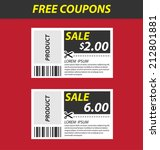 coupon sale  offers and... | Shutterstock .eps vector #212801881