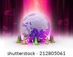 globe and traffic cone   Shutterstock . vector #212805061