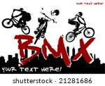 vector image of bmx cyclist | Shutterstock .eps vector #21281686