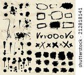 stylish grunge ink splits set.... | Shutterstock .eps vector #212818141