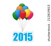 balloons 2015 | Shutterstock .eps vector #212819815