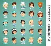 doctors cartoon characters... | Shutterstock .eps vector #212821219