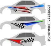 vehicle graphics  stripe  ...   Shutterstock .eps vector #212823229