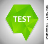 beautiful test web icon | Shutterstock .eps vector #212824081