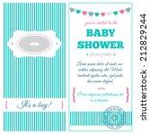 baby shower invitation. azure... | Shutterstock .eps vector #212829244
