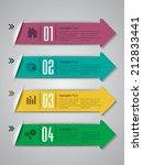 arrow colorful modern label... | Shutterstock .eps vector #212833441