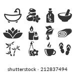 spa icons. | Shutterstock .eps vector #212837494