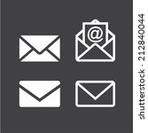 mail icon | Shutterstock .eps vector #212840044