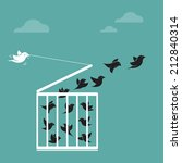 vector image of a bird in the... | Shutterstock .eps vector #212840314