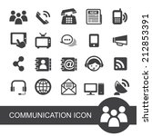 communication icon | Shutterstock .eps vector #212853391