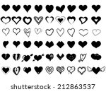 Stock vector heart icons 212863537