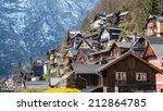 house at hallstatt in spring | Shutterstock . vector #212864785