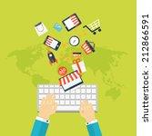 internet shopping concept. e...   Shutterstock . vector #212866591