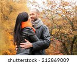 happy middle aged couple... | Shutterstock . vector #212869009